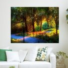 Colorful Park  Art Poster Print  24x18 inch