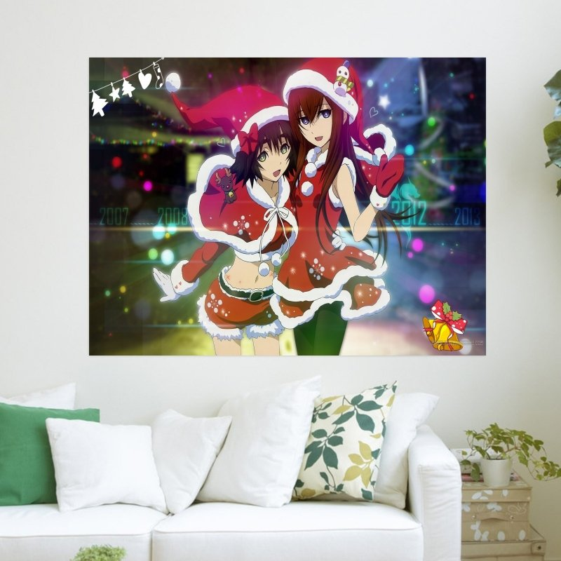 Anime Christmas  Art Poster Print  24x18 inch