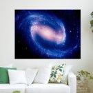 Galaxy Blue  Art Poster Print  24x18 inch