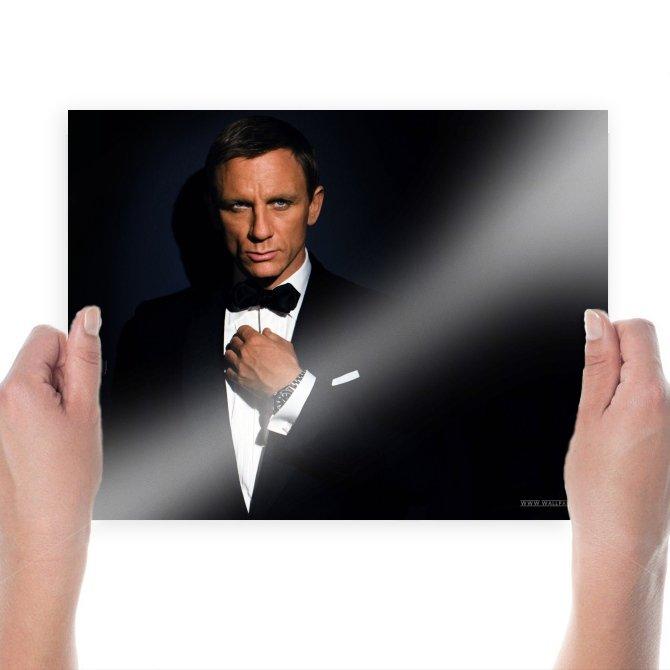 James Bond  Art Poster Print  24x18 inch