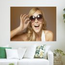 Girl Wearing Sunglasses  Art Poster Print  24x18 inch