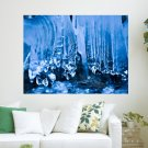 Beautiful Icicles Hd  Art Poster Print  24x18 inch