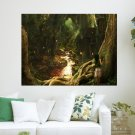 Fairy Tale Forest  Art Poster Print  24x18 inch