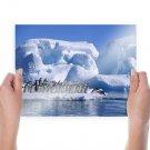 Adelie Penguins Hd  Art Poster Print  24x18 inch