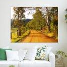 Rustic Road  Art Poster Print  24x18 inch