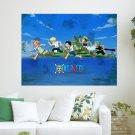One Piece Running  Art Poster Print  24x18 inch