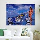 Chopper Hot Baby  Art Poster Print  24x18 inch