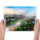 Sky Clouds Thailand Parks Bangkok  Art Poster Print  24x18 inch