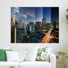 Abstract City In 24 Hours  Art Poster Print  24x18 inch