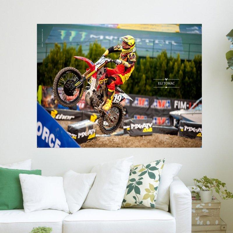 2011 Ama Supercross   Eli Tomac  Art Poster Print  24x18 inch
