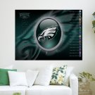 Philadelphia Eagles 2010 W Schedule Art Poster Print  24x18 inch
