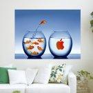 Widescreen Mac Desktop Fishing For Fun  Art Poster Print  24x18 inch