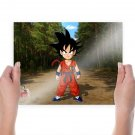 Goku In Road  Art Poster Print  24x18 inch