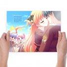 Anime Couple February 2012 Calendar  Art Poster Print  24x18 inch