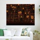 Room Full Of Books  Art Poster Print  24x18 inch