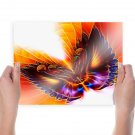 Butterfly Unique  Art Poster Print  24x18 inch