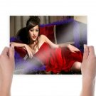 Beautiful Asian Girl In Red  Art Poster Print  24x18 inch