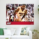 Udonis Haslem Heat 2012  Art Poster Print  24x18 inch
