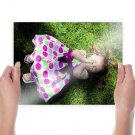 Cute Kid  Art Poster Print  24x18 inch