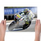 Valentino Rossi The Legend  Art Poster Print  24x18 inch