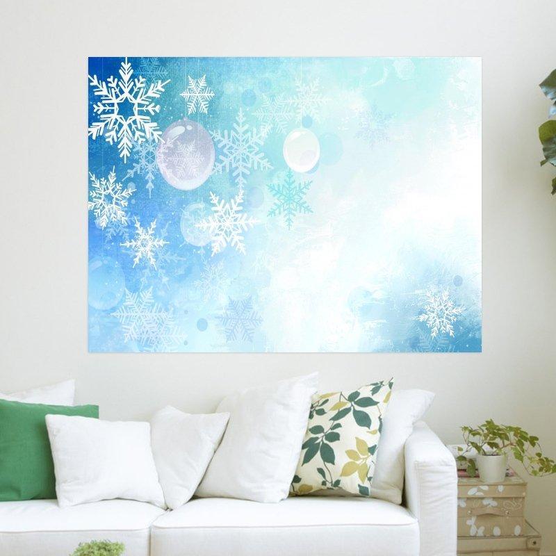 Snowflake Vektor  Art Poster Print  24x18 inch