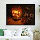 Halloween Pumpkin  Art Poster Print  24x18 inch