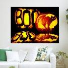 Boo Halloween S Art Poster Print  24x18 inch