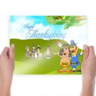 Thanksgiving Day Wide  Art Poster Print  24x18 inch