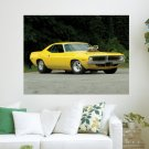 70 Plymouth Barracuda Pro Street  Art Poster Print  24x18 inch
