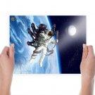 3d Astronaut  Art Poster Print  24x18 inch