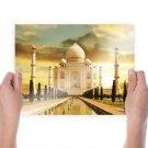 Taj Mahal India S Art Poster Print  24x18 inch