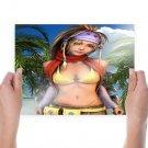 Rikku Of Beauty  Art Poster Print  24x18 inch
