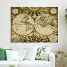 Antique Map  Art Poster Print  24x18 inch