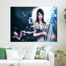 Girl In Chinese Game  Art Poster Print  24x18 inch