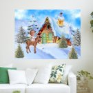 Little Angel Of Christmas  Art Poster Print  24x18 inch
