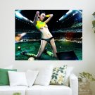 Football Hottie  Art Poster Print  24x18 inch