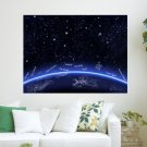 Merry Christmas In The World  Art Poster Print  24x18 inch