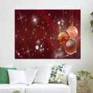 Red Christmas  Art Poster Print  24x18 inch