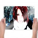 Girl In Snow  Art Poster Print  24x18 inch