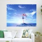 Enjoy The Wind  Art Poster Print  24x18 inch