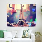 Hearts In The Room  Art Poster Print  24x18 inch