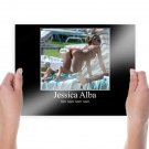 Jessica At The Beach  Art Poster Print  24x18 inch