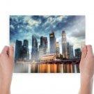 Modern City  Art Poster Print  24x18 inch