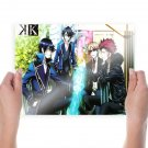 Anime K Main Characters  Art Poster Print  24x18 inch