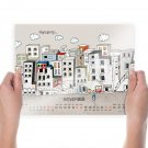 Cartoon Calendar Hd  Art Poster Print  24x18 inch