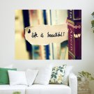 Life Is Beautiful  Art Poster Print  24x18 inch