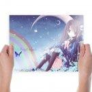 Midnight Sapphire  Art Poster Print  24x18 inch