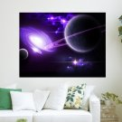 Cosmo Universe  Art Poster Print  24x18 inch