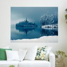 Winter Lake  Art Poster Print  24x18 inch