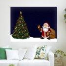 Santa Ringing Bell  Art Poster Print  24x18 inch